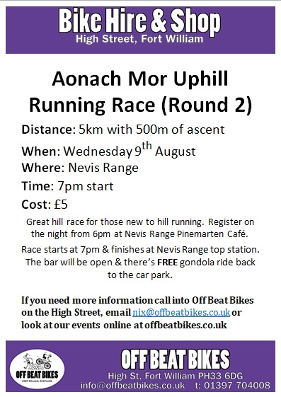 Aonach Mor Uphill Running Race (round 2) @ Nevis Range